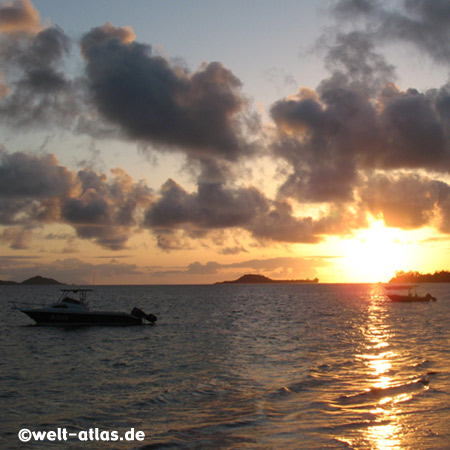 Sunset at Grand Anse, Praslin, Seychelles