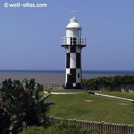 Leuchtturm von Port Shepstone,KwaZulu Natal, SüdafrikaPosition: 30°44'S 30°27'E