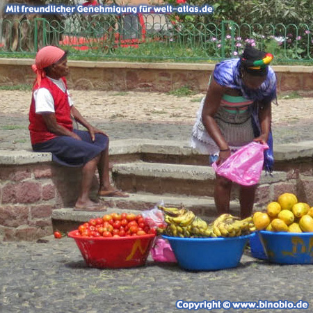 Fruit sellers in Mindelo, São Vicente, Cape Verde