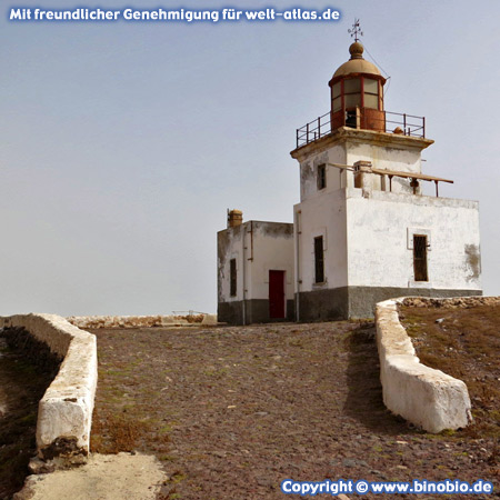 Morro Negro lighthouse is the most western point on the island of Boa Vista, Cape Verde