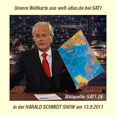 Our political world map in theHarald Schmidt Show - Sat.1 on 13/09/2011