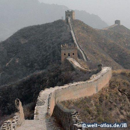 Die Chinesische Mauer, restaurierter Abschnitt bei Jinshanling