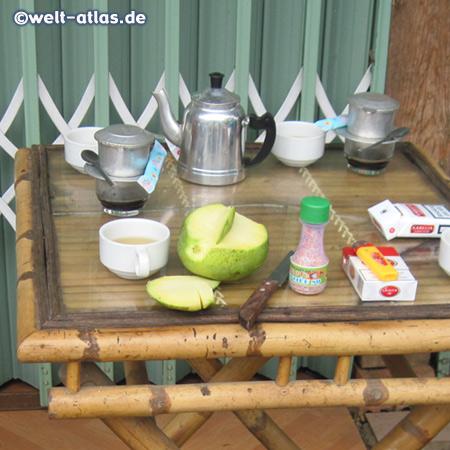 Kaffeepause im Zentralen Hochland zwischen Dalat und Nha Trang