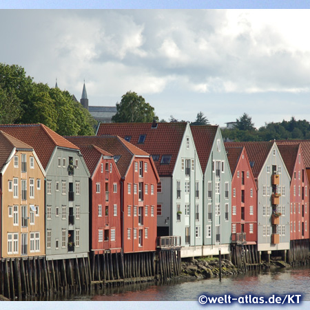Old storehouses of Trondheim, Norway