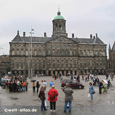 The Dam and the Royal Palace in Amsterdam