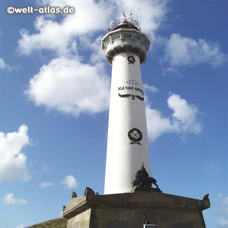 Jan van Speijk-Leuchtturm in Egmond aan Zee, Position: 52°37,2' N 004°37,4' E