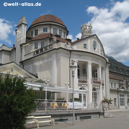 The Kurhaus in Merano, beautiful Art Nouveau building, Passerpromenade