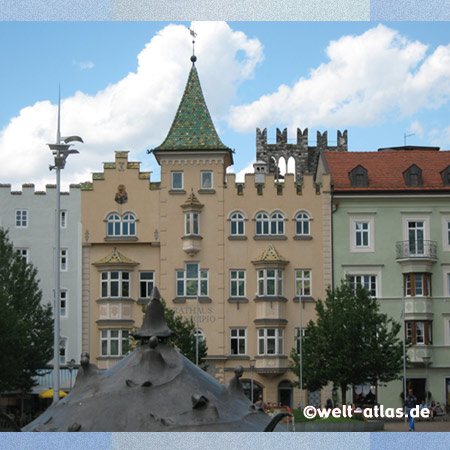 Cathedral Square with Town Hall in Bressanone/Brixen, most ancient city in the South Tirol
