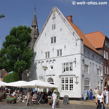 Klostercafé am Marktplatz in Tønder