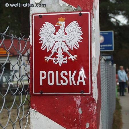border sign, Poland