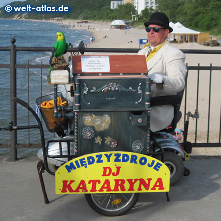 Organ grinder of Miedzyzdroje, Baltic Sea, Poland