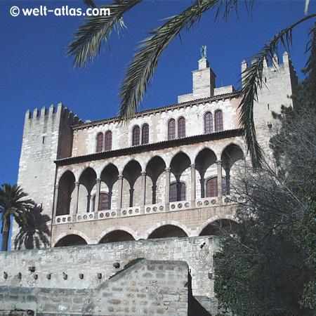 Almudaina-Palast, Palma de Mallorca,maurischer Prachtbau, Spanien