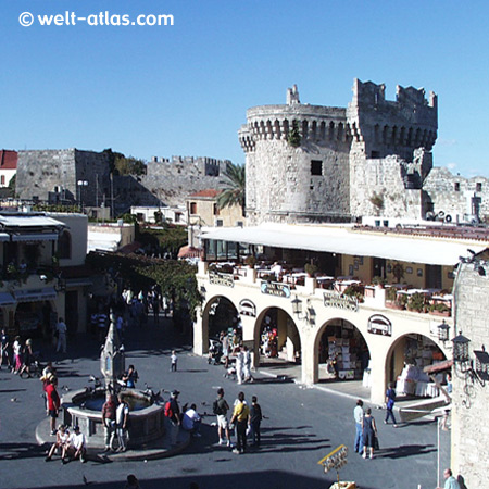 Rhodes, Platia Ippokratous, Old Town, Dodecanese Greec