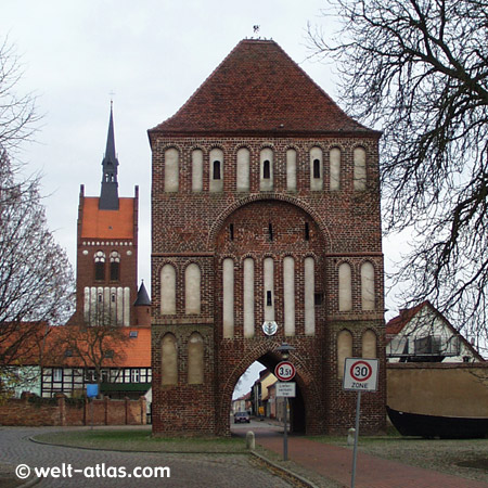 Usedom, Anklam Gate and Marienkirche