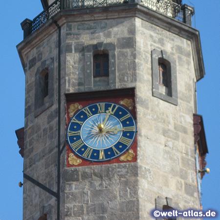 Die Uhr am Rathausturm, Görlitz