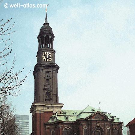 Kirche St. Michaelis, Michel, Wahrzeichen, Hamburg
