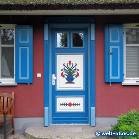 typical door at  Fischland, Germany