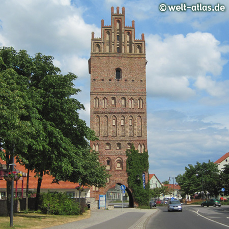 Stone Gate of Hanseatic town Anklam, landmark