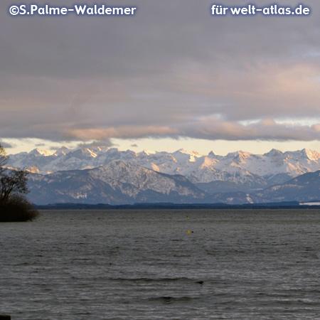 Alpengipfel am Starnberger See – Foto:© S. Palme-Waldemer