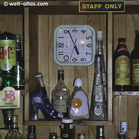 Clock in a pub, Lesotho