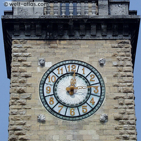 Clock tower, Bergamo, Italy