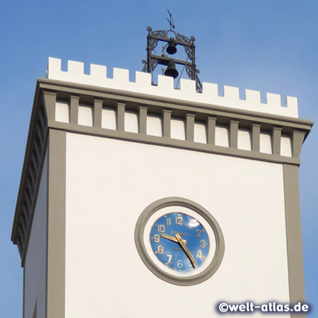 Tower clock of the town hall in Lacco Ameno, Ischia