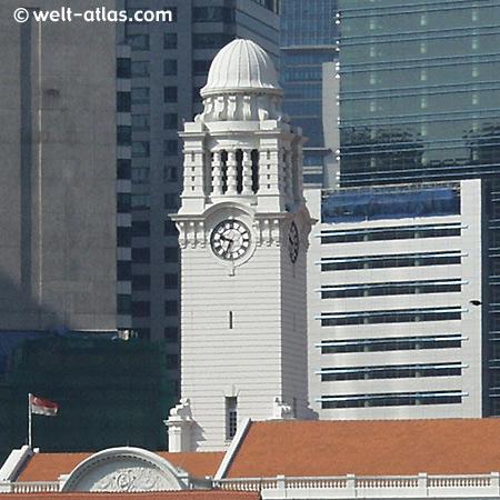 Clock tower in Singapur,Wahrzeichen der ehemaligen Kolonie