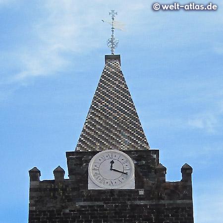 Turmuhr der spätgotischen Kathedrale in Funchal, Sé Catedral