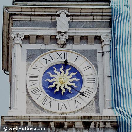 Uhrturm, Torre dell' Orologio in Udine,Piazza della Libertà