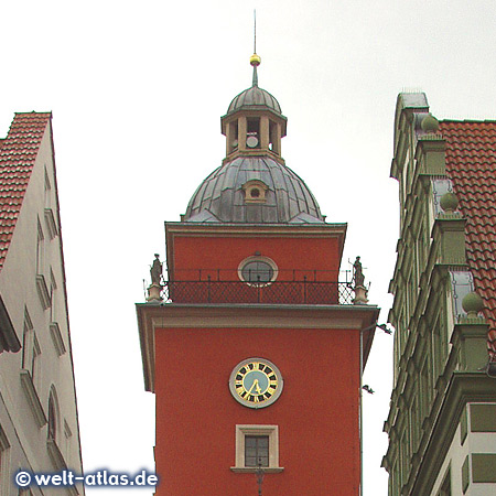 Clock at the Town Hall tower of the Gotha