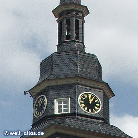 Clock at town hall tower of Eisenach