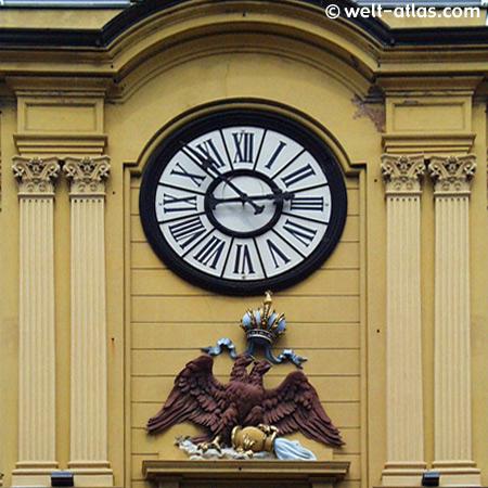 Uhr am Stadtturm in Rijeka, erbaut zur Weltausstellung 1873 in Wien, Kroatien