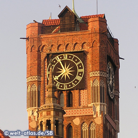 Turm des alten Rathauses in Torun