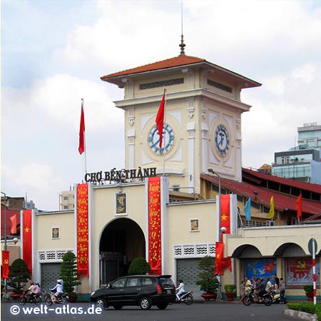 Uhrturm der Ben-Thanh-Markthalle