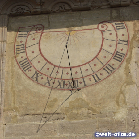 Sundial at St. Martins church in Forchheim