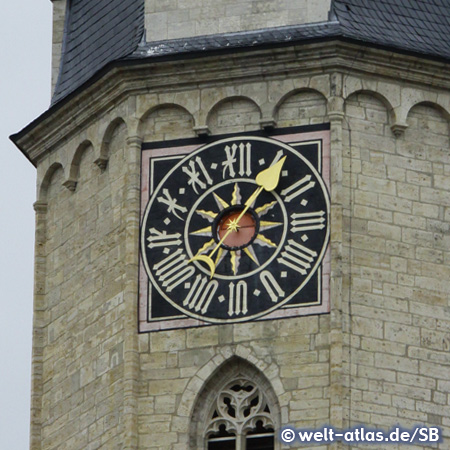 Clock Tower at the city church of St. Michael in Jena