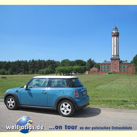 welt-atlas.de - ON TOUR in Westpommern an der Ostseeküste. Der imposante Leuchtturm ist das Wahrzeichen von Horst (Niechorze)