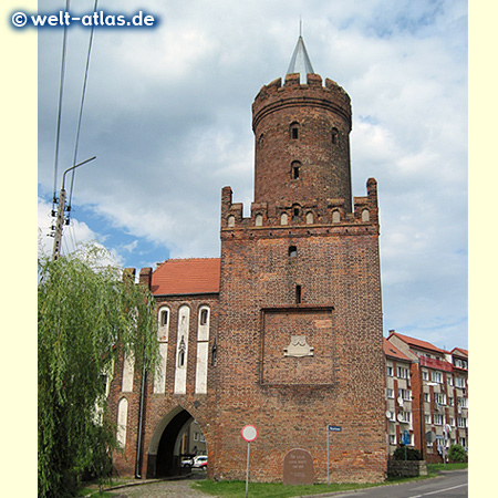 Wolinska Gate and Piastowska Tower of Kamień Pomorski, part of former town wall
