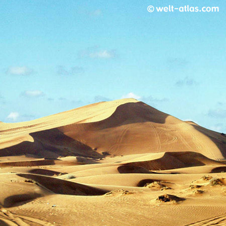 In the desert of Dubai, UAE