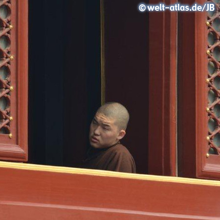 Buddhist monk at Yonghe Temple, Beijing