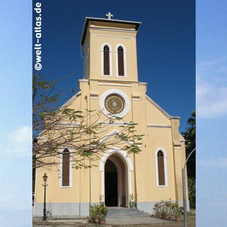 Kirche auf La Digue