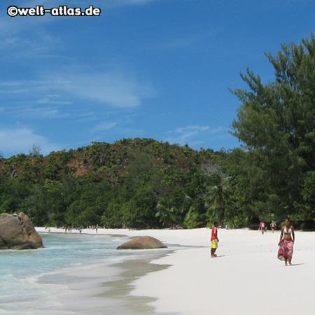 Strand Anse Lazio, Praslin, Seychellen