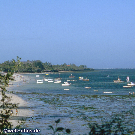 Schöner Strand nahe Mombasa, Kenia