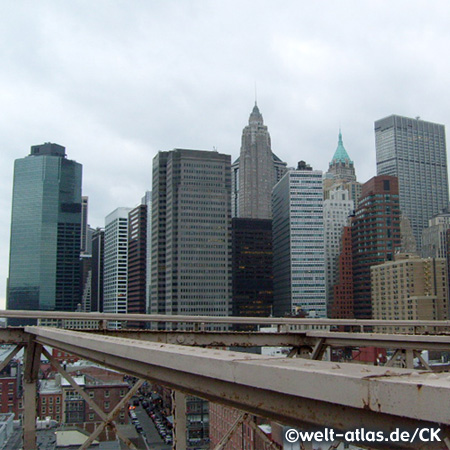 New York Skyline von der Brooklyn Bridge