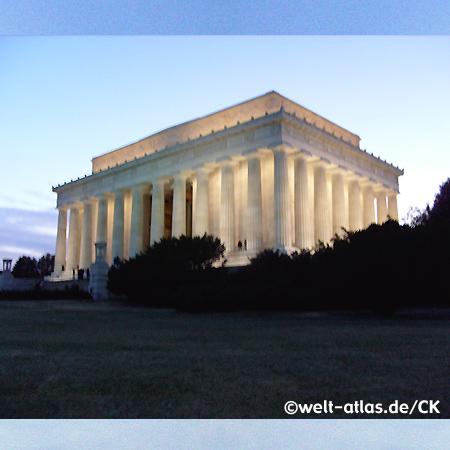 Lincoln Memorial, erbaut zu Ehren Abraham Lincolns