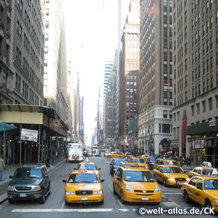 Yellow Cabs, 33rd Street, New York