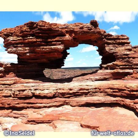 Fenster im Felsen – Kalbarri Nationalpark - Foto: Copyright Ina Seidel