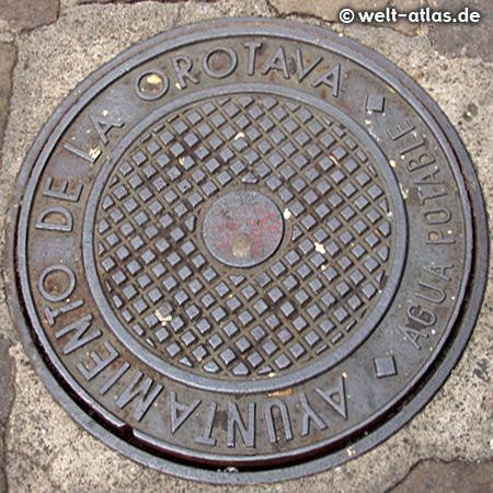 Manhole cover City of La Orotava, Tenerife