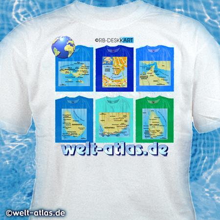 T-Shirt Gestaltung für welt-atlasKarten von Reisezielen