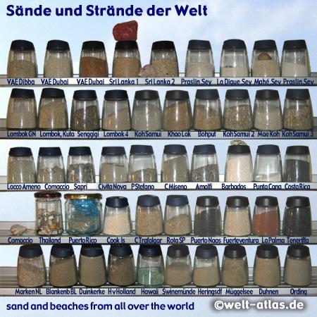 Sandproben aus aller Welt